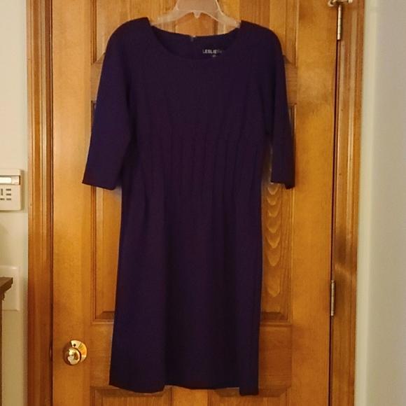 Leslie Fay deep purple dress
